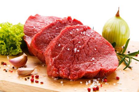 carne cruda: La carne fresca cruda Foto de archivo