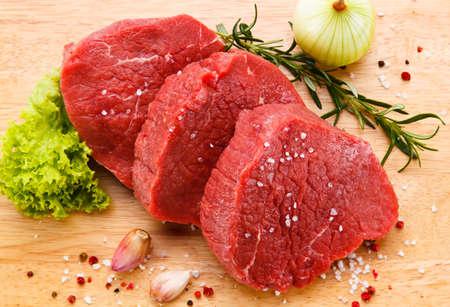 Fresh raw beef Stock Photo