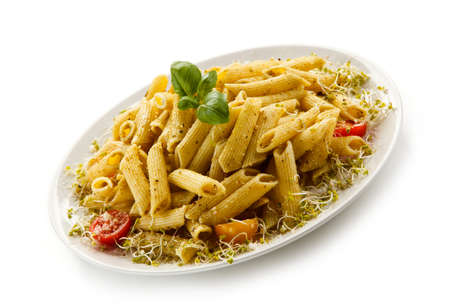 prepared dish: Pasta with pesto