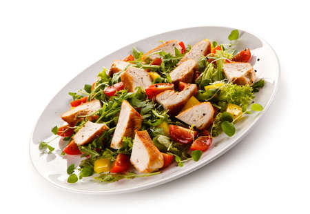 Salad with grilled chicken