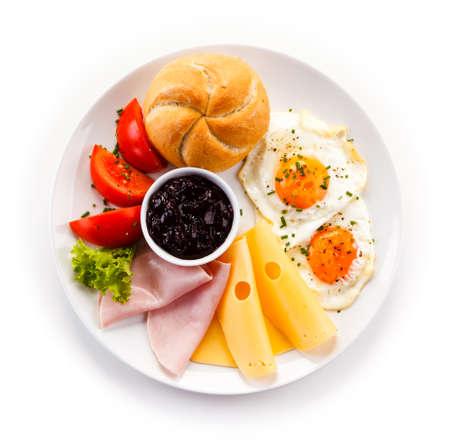 Breakfast - egg, ham and cheese