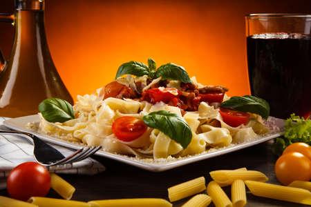 italian cuisine: Pasta with tomato sauce