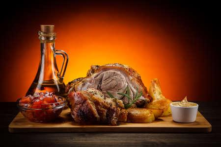 carne asada: carne asada nudillo
