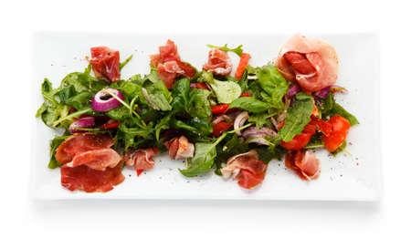 Salad with smoked ham