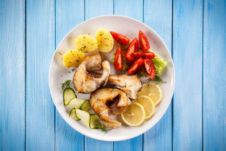fillets: Fish dish - fried cod