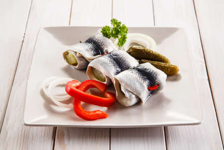 Marinated herring fish