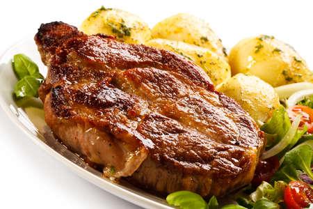 Roast steak with potatoes