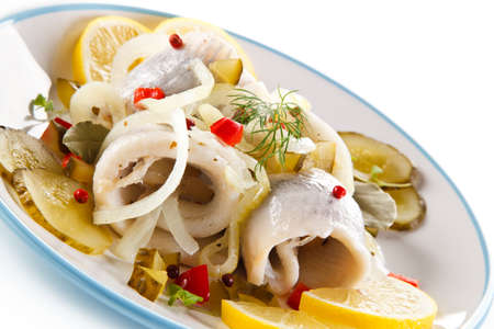marinated herring Stock Photo