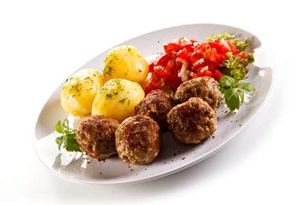 Roast meatballs Stock Photo