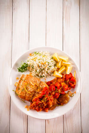 Fish dish - fried fish fillet