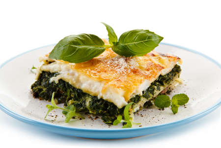 mee: Vegetarian lasagna with spinach