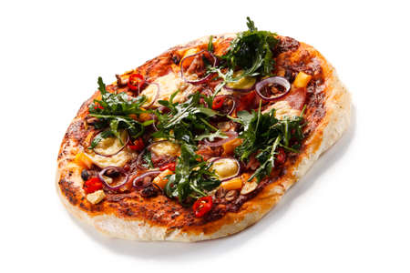 Pizza with ruccola Stock Photo