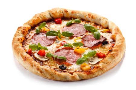 champignons: pepperoni pizza
