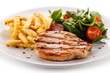 Roast steak with fries
