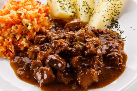 Goulash meat with potatoes