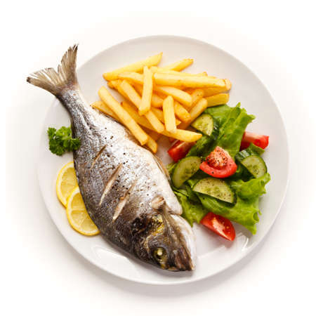 Fried fish with french fries