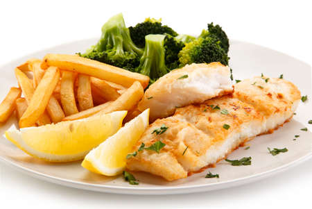 Fried cod fish with french fries