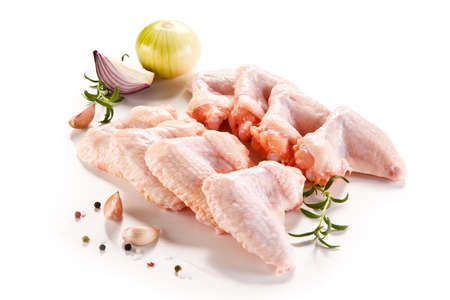 Fresh raw chicken wings