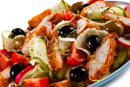 グリルチキンのサラダ