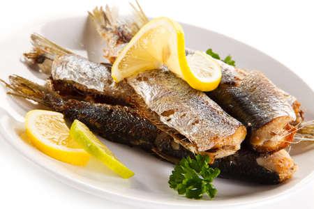 broiled: Fried herrings
