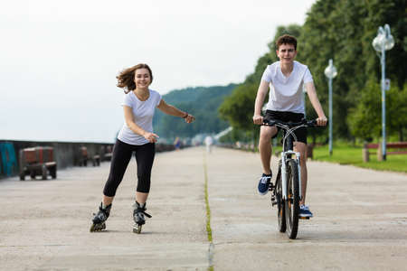 Sport and recreation - people working out Stock Photo