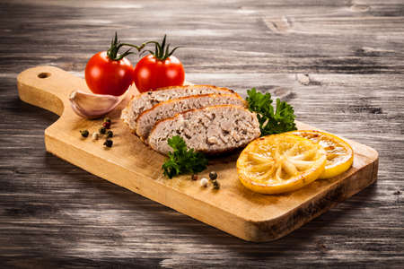 Grilled meat on cutting board Stock Photo
