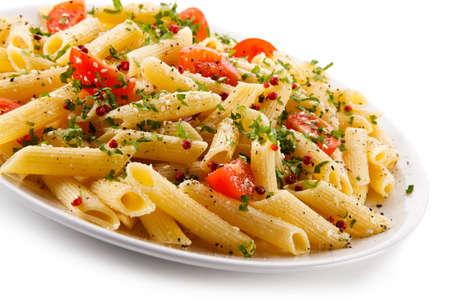 Pasta with cheese and vegetables