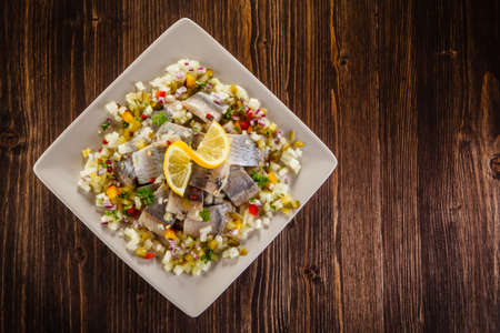 marinated herring Reklamní fotografie