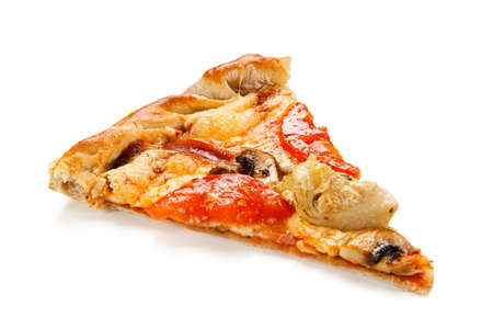 Pizza with mushrooms and artichokes 免版税图像