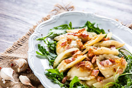 Dumplings - cheese noodles with bacon