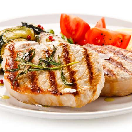 Grilled steak and vegetable salad Banco de Imagens