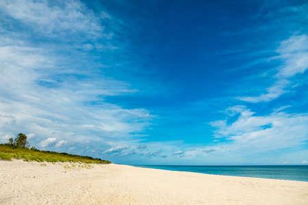 View of empty sunny beach