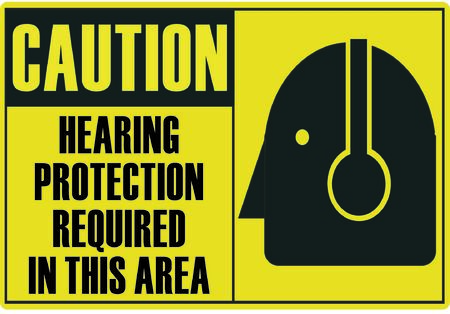 required: Hearing Protection Required Illustration