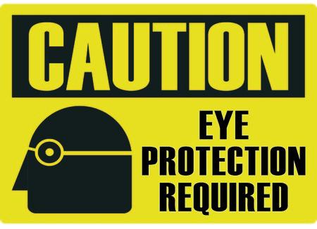 Oogbescherming verplicht Vector Illustratie