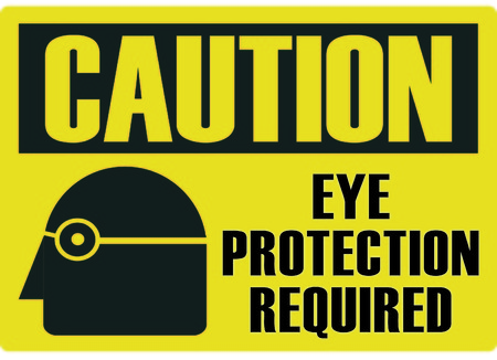 Eye protection required Vectores