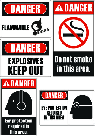 flammable: Danger flammable safety signs