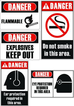 se�ales de seguridad: Peligro inflamable se�ales de seguridad  Vectores