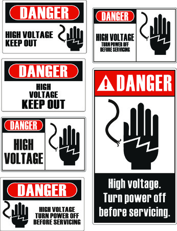 safety signs: Danger keep away safety signs