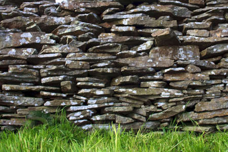 man made: Man made stone wall Stock Photo