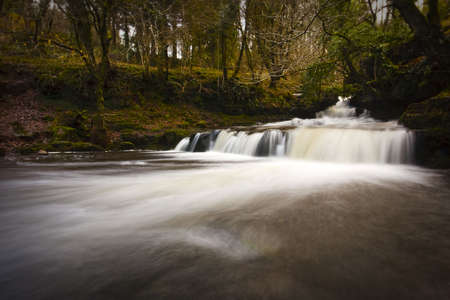 Mountain waterfall at Tal-y-bont, Wales Stock Photo