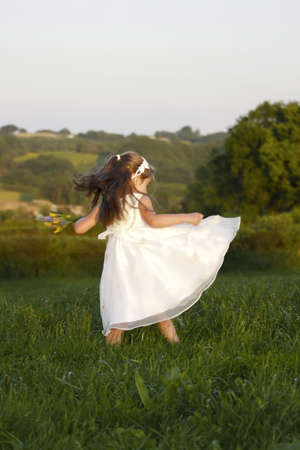 Young girl celebrates summer time photo