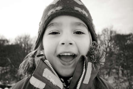 bobble: Young girl in winter