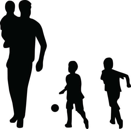 Family silhouette vector Stock Vector - 5338219