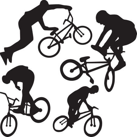 Bicyclist silhouette Stock Vector - 5367242