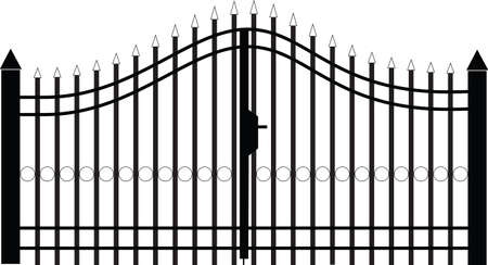 manor: gate silhouette vector Illustration