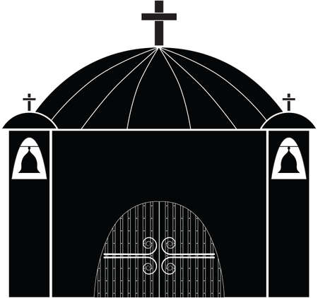 minster: church silhouette  Illustration