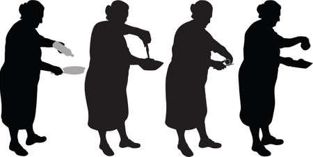 fork glasses: cibo silhouette vettoriale