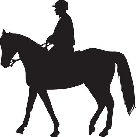 man on the horse silhouette