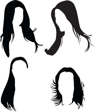 women hair silhouette  Stock Vector - 7000528