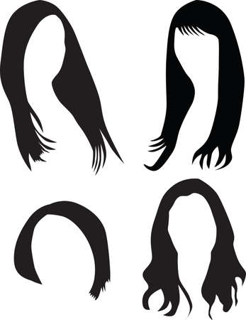 women hair silhouette Stock Vector - 7573635
